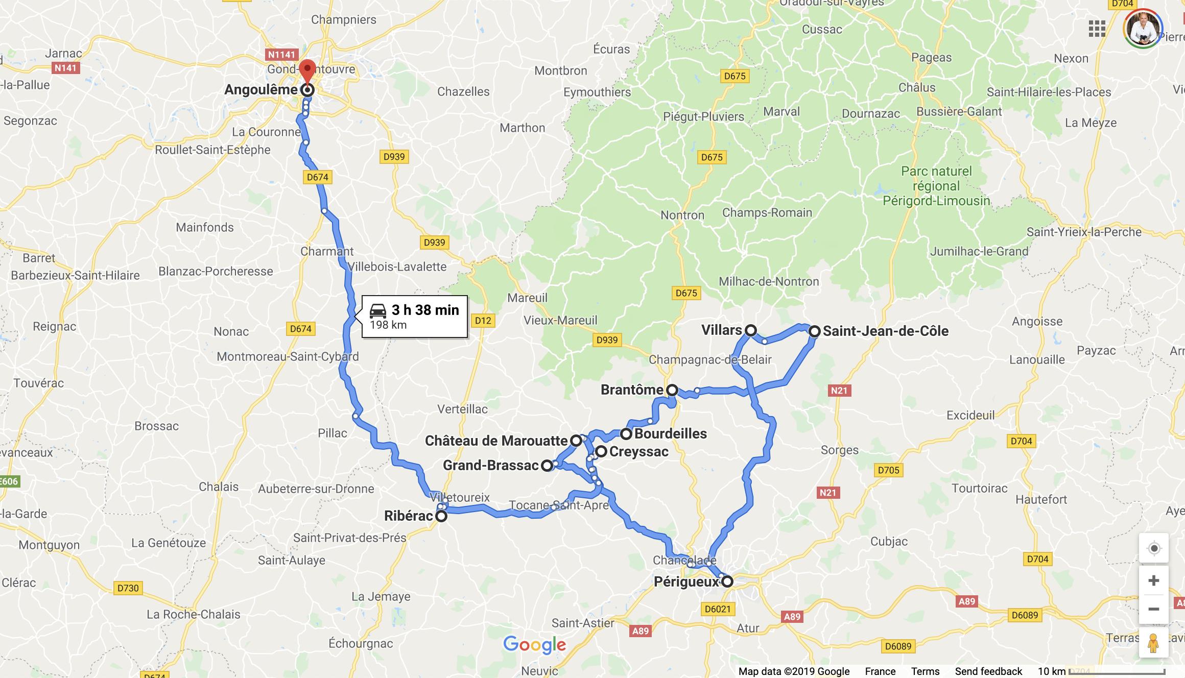 Detailed Map of Villages in Dordogne