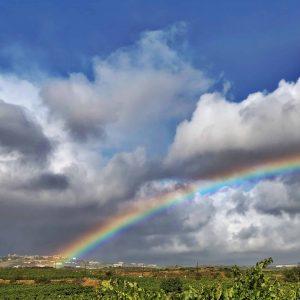 Rainbow into Laguardia - Laguardia, Spain - Copyright 2019 Ralph Velasco