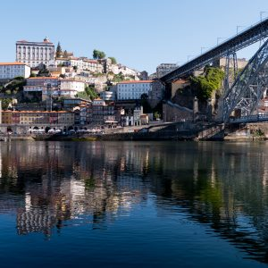 Ribeira and Dom I Bridge from Vila Nova de Gaia - Porto, Portugal - Copyright 2019 Ralph Velasco